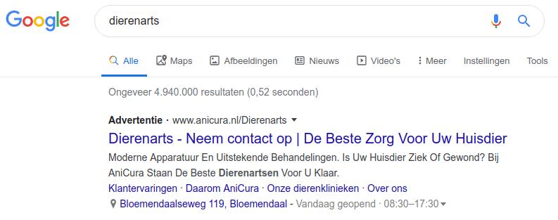 Google wijzigt kleur advertentielabel