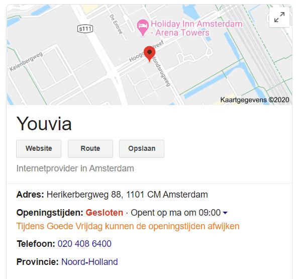 Youvia Amsterdam heeft hetzelfde adres als DTG Amsterdam.