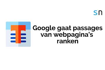 Google gaat passages van webpagina's ranken.